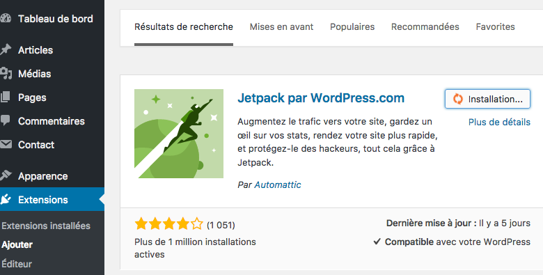 Utilisation de WordPress pour i phone