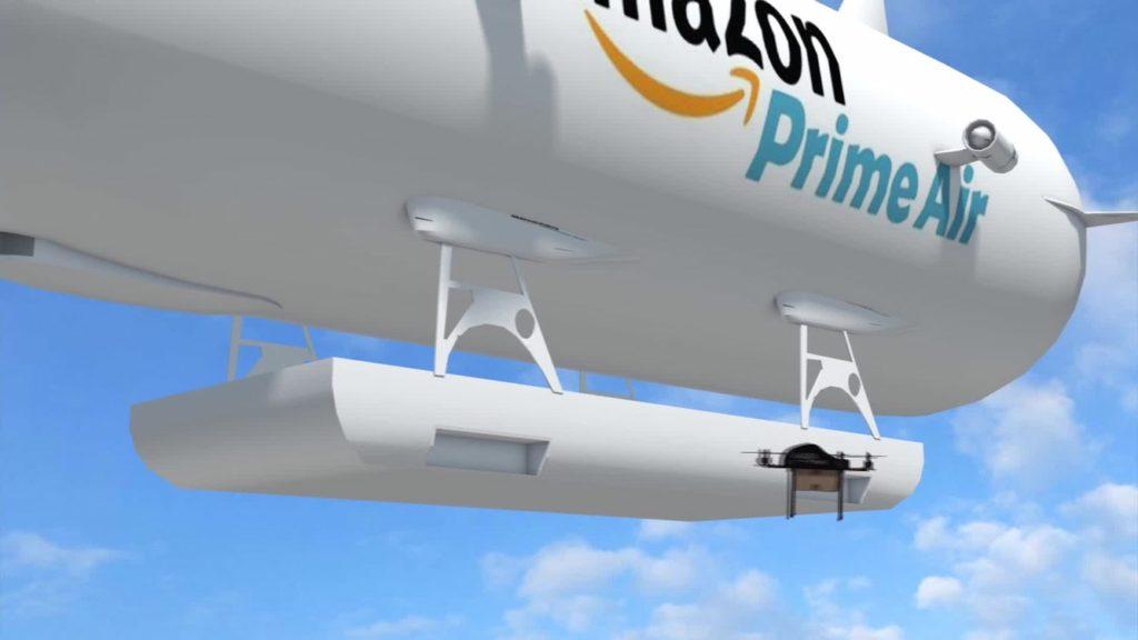 Les entrepôts volants d'Amazon bientôt une réalité