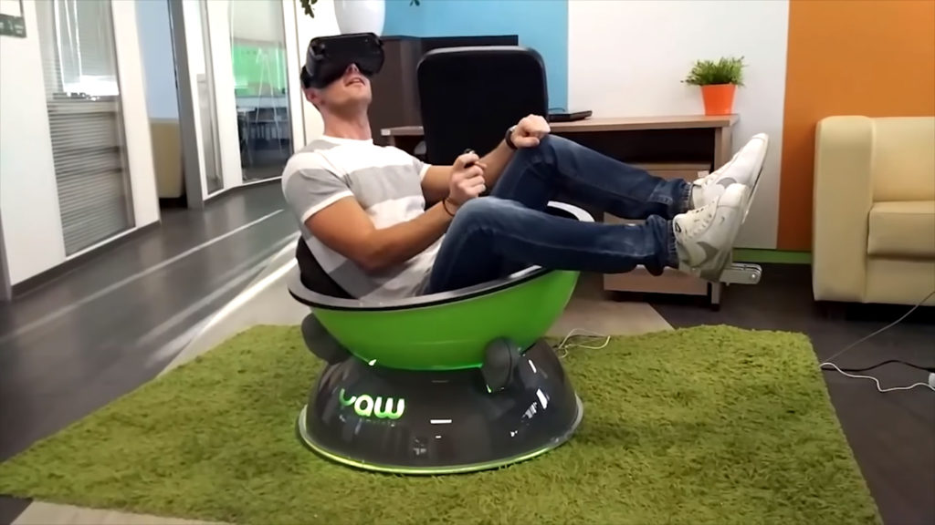 Yaw VR le  simulateur de mouvement portable low cost